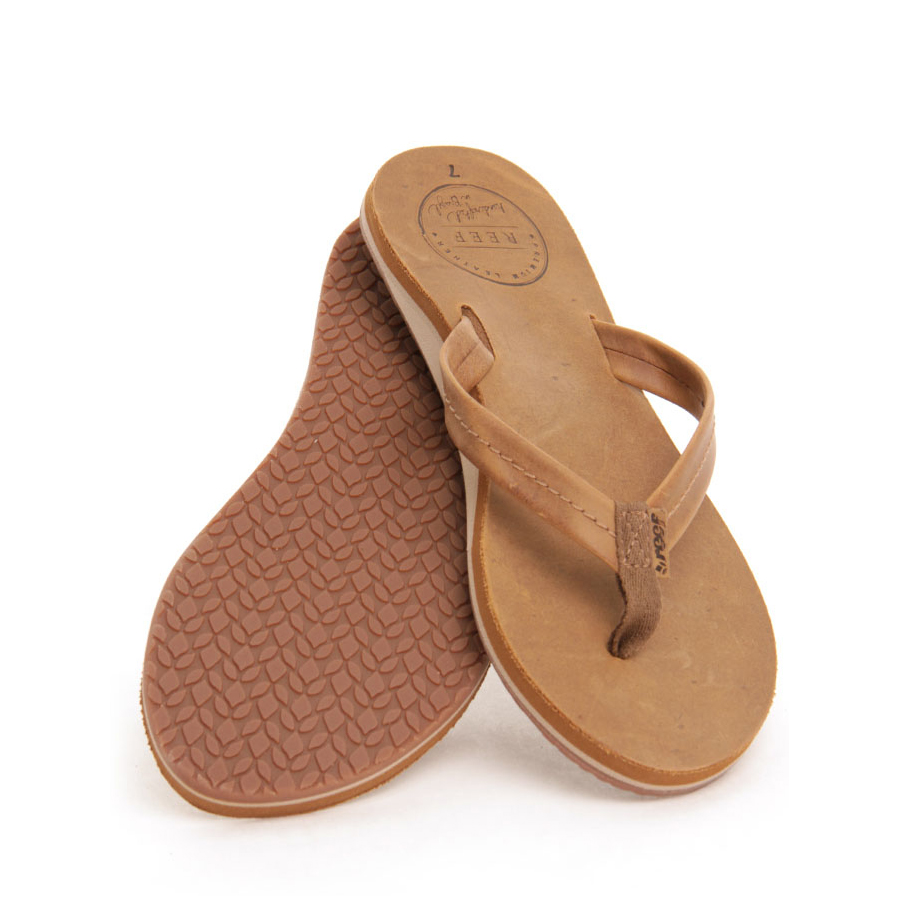 c2124a84d Reef Chill Leather Women s Slaps Tobacco Sportex.sk
