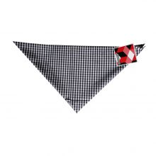 Ripzone Woven Scarf Cotton Gingham Black White Lowest Price