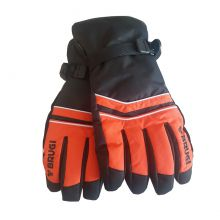 Brugi ZC4X RYY Men's Ski Gloves Black Orange Lowest Price
