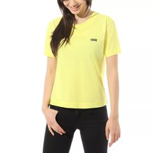 Vans Junior V Boxy Women's T-Shirt Lemon Tonic