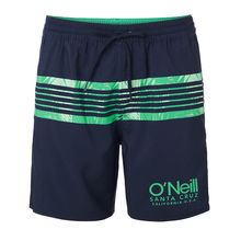 O'Neill Cali Stripe Men's Swim Shorts Blue Aop Brown Beige Lowest Price