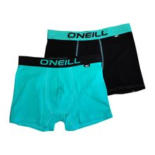 O'Neill Men's Boxers 2 Pack Peacock Green Black Lowest Price