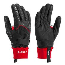 Leki Nordic Circuit Shark Gloves Black Red Lowest Price