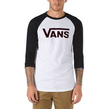 Vans Classic Raglan White Black Men's T-Shirt Lowest Price