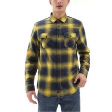 Vans Monterey III Men's Shirt Dress Blues Lemon Lowest Price