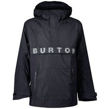 Burton Frosten Anorak Man's Snow Jacket True Black Lowest Price