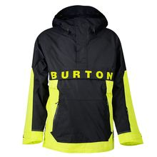Burton Frosten Anorak Man's Limade True Black Lowest Price