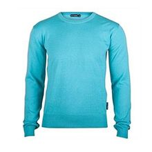 Golf Junkie Driver Crew Men's Sweater Bright Blue Lowest Price