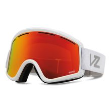 VonZipper Cleaver White Gloss Wavey Fire Chrome Snow Goggles Lowest Price