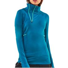 Mons Royale Olympus 3.0 Half Zip Woman's Thermo Oily Blue Lowest Price