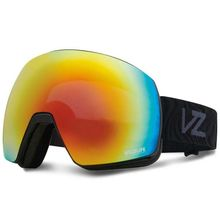 VonZipper Satellite Black Gloss Wavey Fire Chrome Snow Goggles Lowest Price