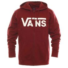 Vans Classic Zip Hoodie II Man's Sweatshirt Pomegranate Lowest Price