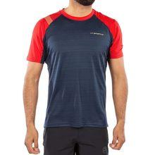 La Sportiva Sunfire Men's T-shirt Night Blue Tango Red Lowest Price