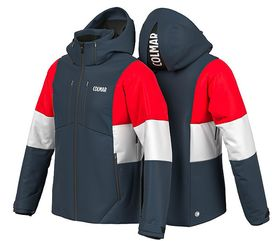 Colmar Whistler Colorblock Ski Jacket Blue Red White Lowest Price