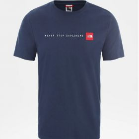 The North Face NSE Men's T-shirt Blue Wing Teal Tnf Red