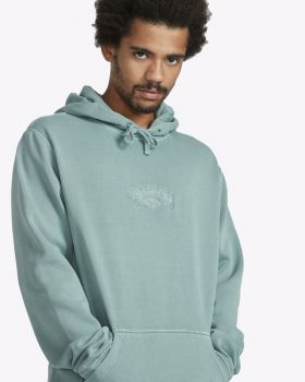 Billabong Wave Washed Po Hoodie Dusty Green